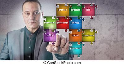 informazioni, puzzle, toccante, direttore, pezzo
