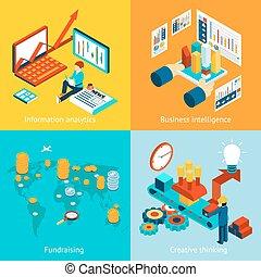 informazioni, raccolta fondi, affari, pensare, intelligenza, analytics, creativo