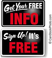 informazioni, tesare, libero, segno, negozio