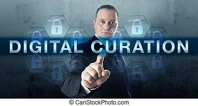 informazioni, urgente, digitale, archivista, curation