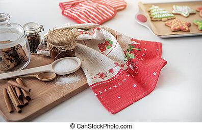 ingredienti cuociono forno, cibo, dolce, pasta, vacanza