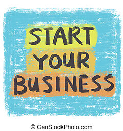 inizio, tuo, affari