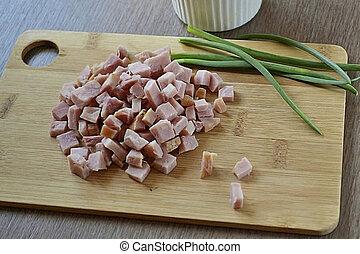 insalata, prosciutto, -, ciotole, 5, ricetta, 2