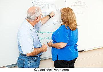 insegnamento, -, adulto, matematica, educazione