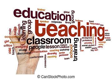 insegnamento, parola, nuvola