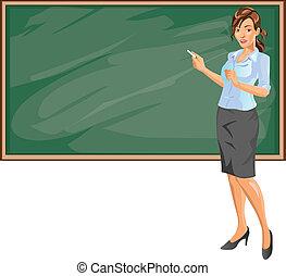 insegnante, femmina