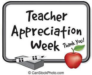 insegnante, settimana, apprezzamento
