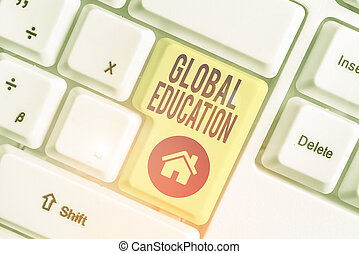 insegnato, uno, education., testo, scrittura, significato, aumentare, concetto, idee, scrittura, globale, world., percezione, s