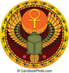 insetto, sacro, egiziano