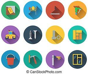 insieme costruzione, icone