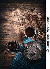 insieme tè, asiatico