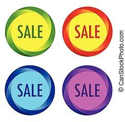 insolito, etichette, set, vendita