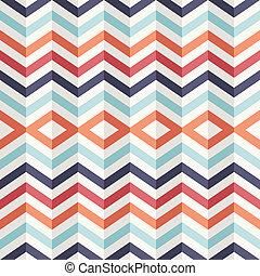 insolito, vendemmia, astratto, pattern., effetto, geometrico, 3d
