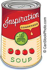 inspir, minestra pomodoro, condensed, lattina