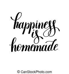 inspirational, citazione, casalingo, scritto mano, positivo, felicità