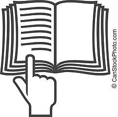 (instruction, simbolo, manuale, libro, vettore, icon)