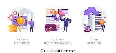 integrazione, esso tecnologia, infrastruttura, illustrations., concetto, vettore, astratto