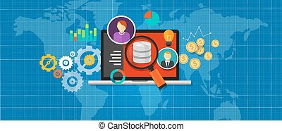 intelligenza, affari, analisi, database