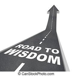 intelligenza, -, saggezza, indicazione, illuminismo, strada