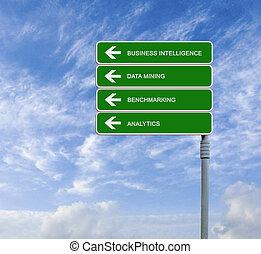 intelligenza, strada, affari firmano