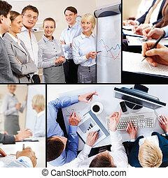 interazione, affari, collage