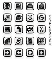 interfaccia, icone, internet