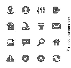interfaccia, icone