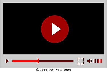 interfaccia, luogo, mobile, o, web, application., vettore, giocatore, video, illustrazione, disegno, bianco