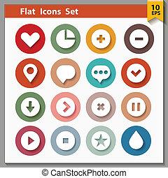 interfaccia, web, collezione, icone