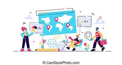 internazionale, globale, ricerca, affari, ditta