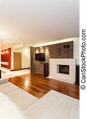 interno, appartamento, moderno, -, spazioso