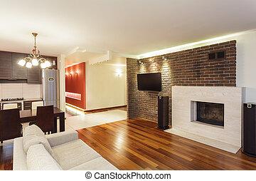 interno, appartamento, -, spazioso