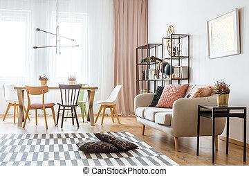interno, appartamento, spazioso