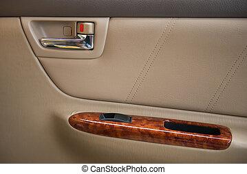 interno, automobile, automobile, vista
