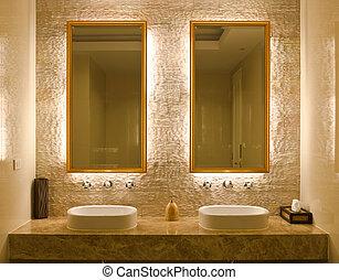 interno, bagno, disegno