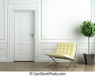 interno, bianco, classico