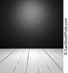 interno, bianco, nero, vuoto