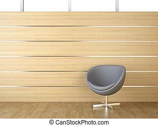 interno, cladding, legno, disegno, sedia