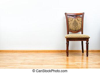 interno, classico, sedia, pavimento, legno