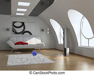 interno, moderno