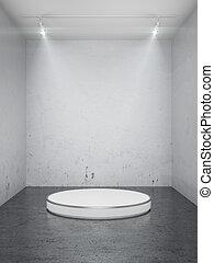 interno, palcoscenico vuoto