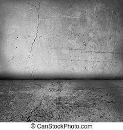 interno, parete, grunge, pavimento