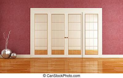 interno, porta, scorrevole
