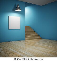 interno, stanza, scala