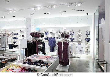 interno, stoffa, marca, negozio, nuovo