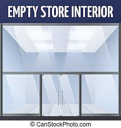 interno, vuoto, negozio