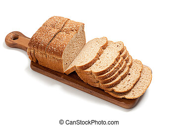 intero, pagnotta, grano, asse, bread