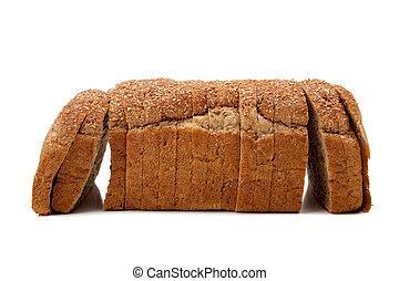 intero, pagnotta, grano, pane bianco