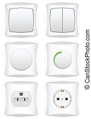 interruttore, set, elettrico