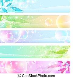 intestazioni, bandiere, lucido, colorito